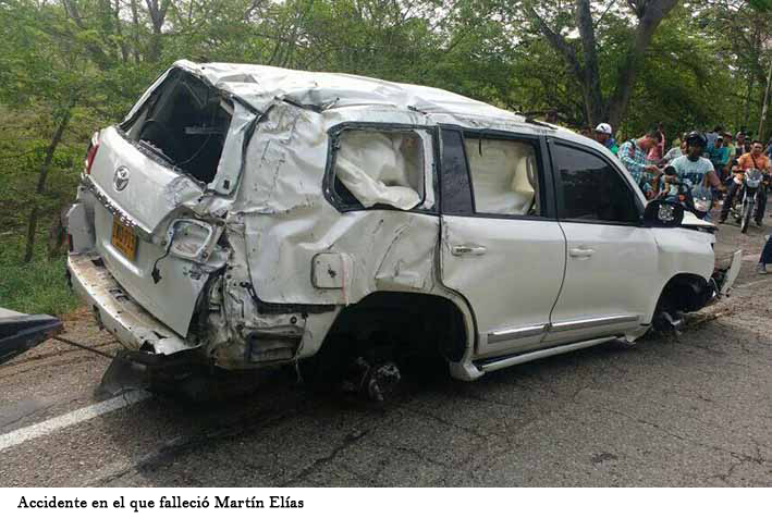 FOTO DEL ACCIDENTE EN QUE MURIO MARTIN ELIAS