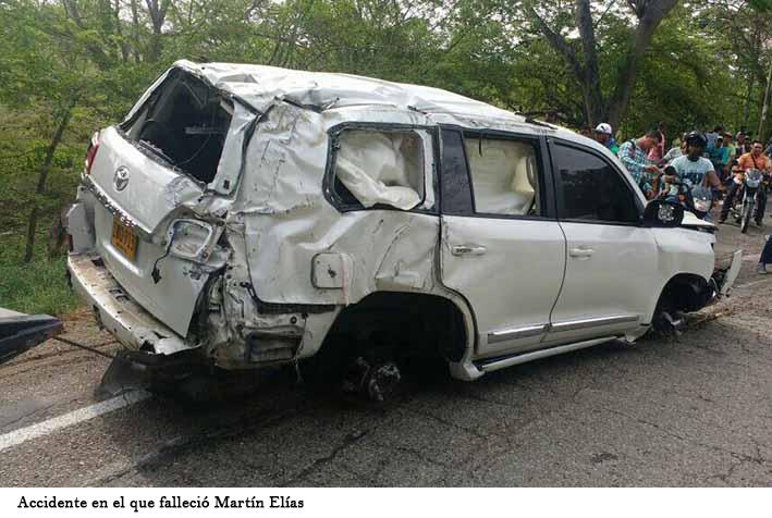 FOTO DEL ACCIDENTE EN QUE MURIO MARTIN ELIAS