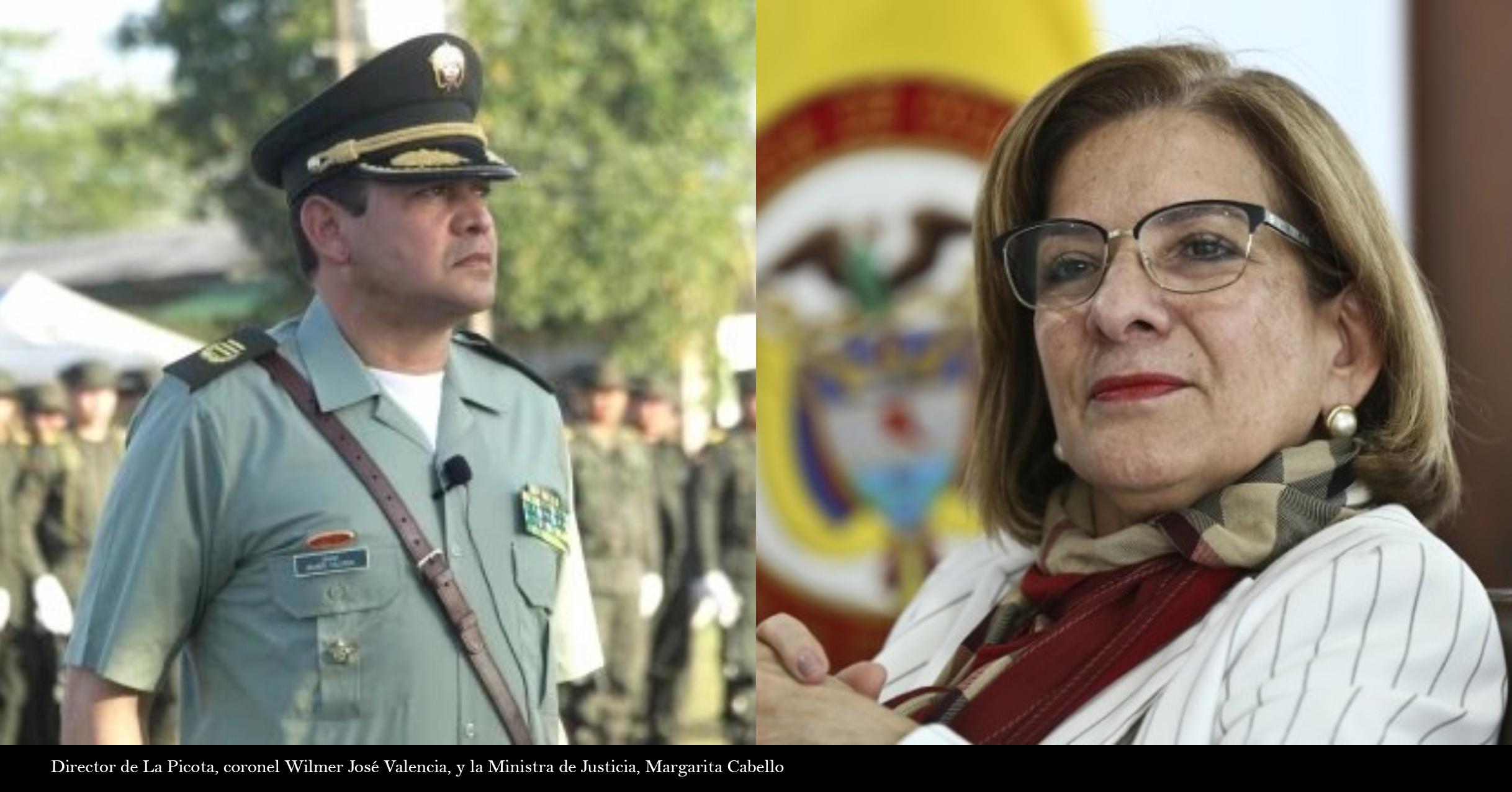 FOTO MINISTRA DE JUSTICIA Y DIRECTOR DE PICOTA