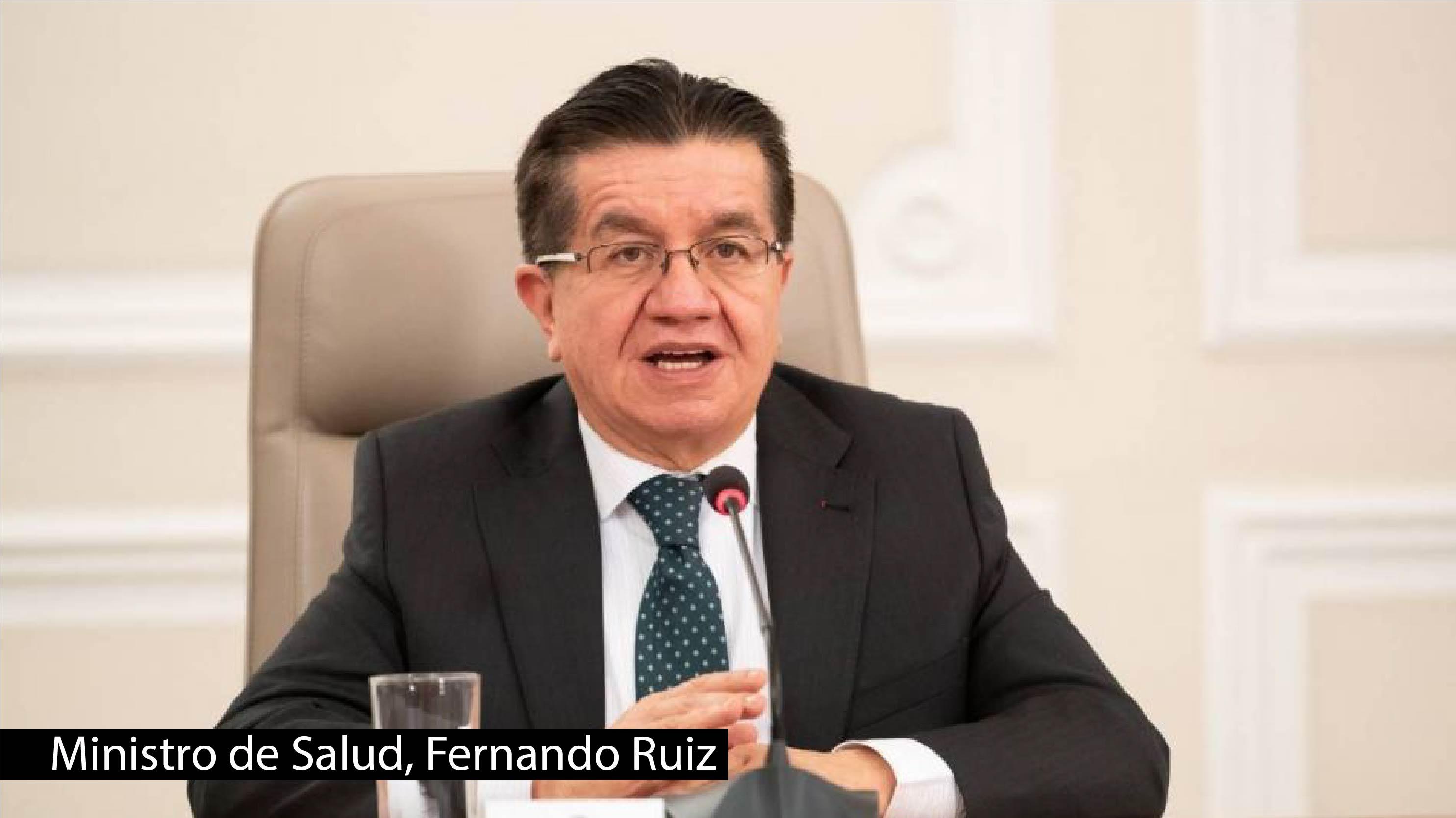 Fernando Ruiz, Ministro de Salud