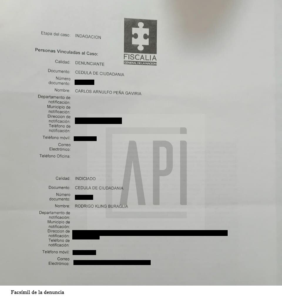 FACSIMIL DE LA DENUNCIA CON MARCA API
