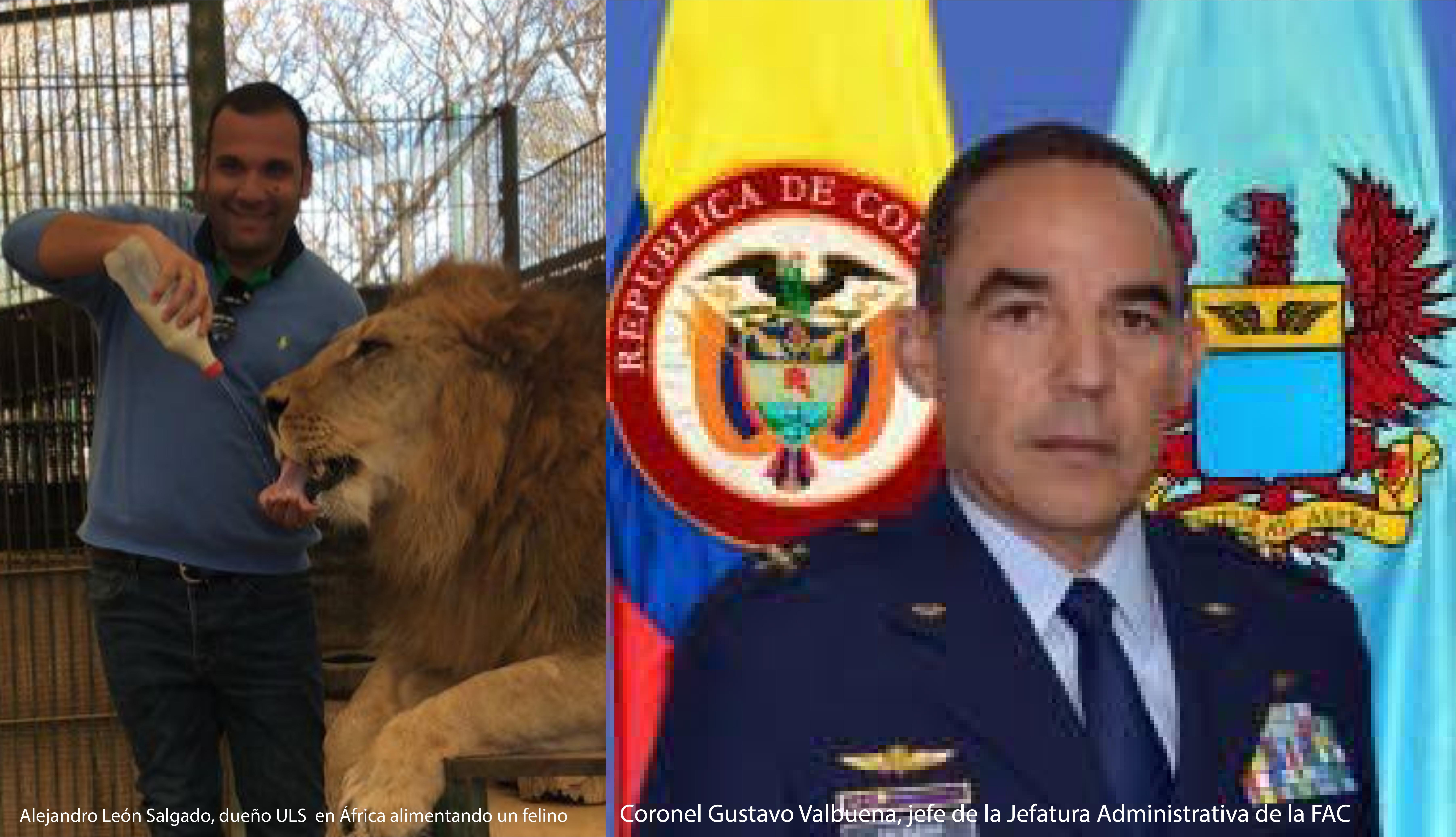coronel Gustavo Valbuena, jefe de la Jefatura Administrativa de la FAC