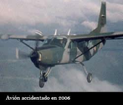 FOTO: ACCIDENTE DE AVION EN2006